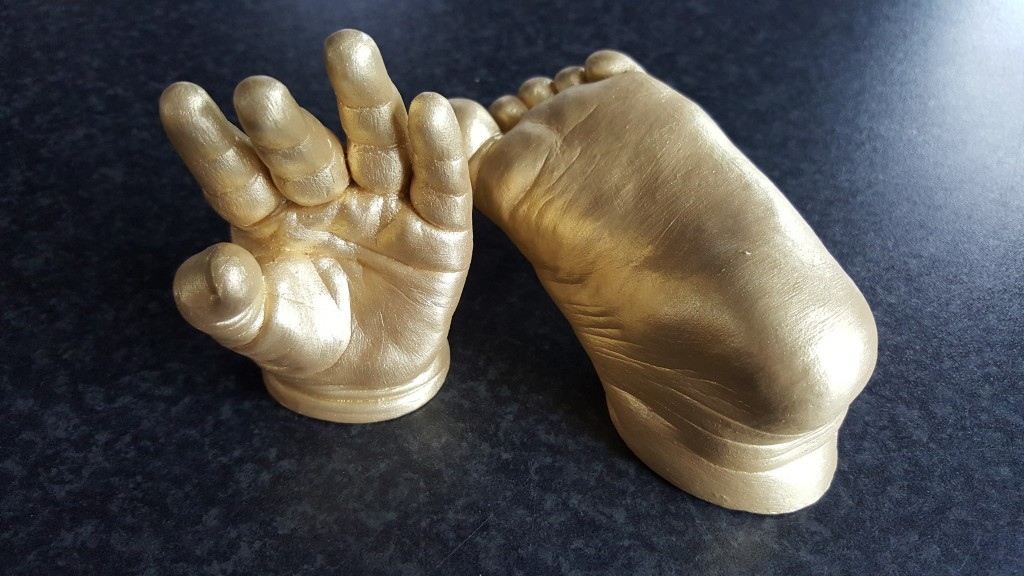 Foot & hand baby statue casts