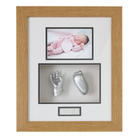 wood-silver-baby-hand-foot-cast-frame