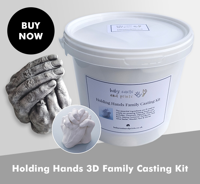 Holding Hands 3D Family Casting Kit