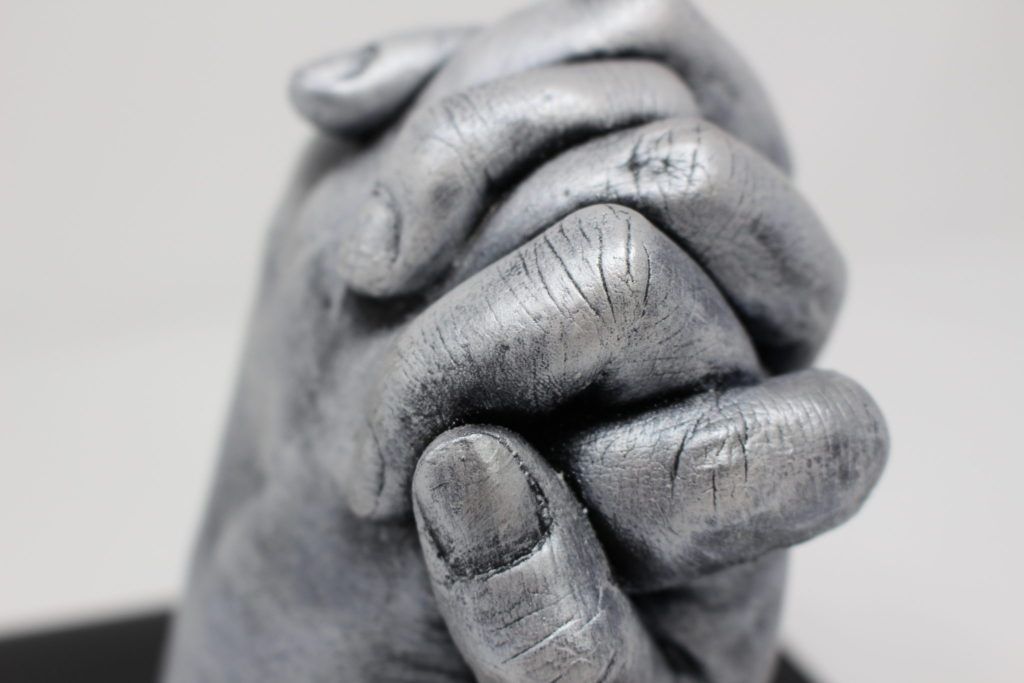 Couple Hand Holding 3D Cast