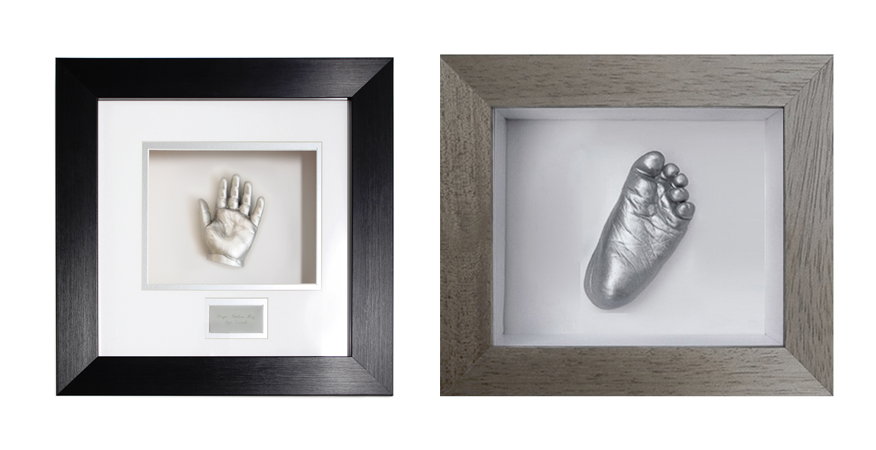 single hand or foot framed baby casting