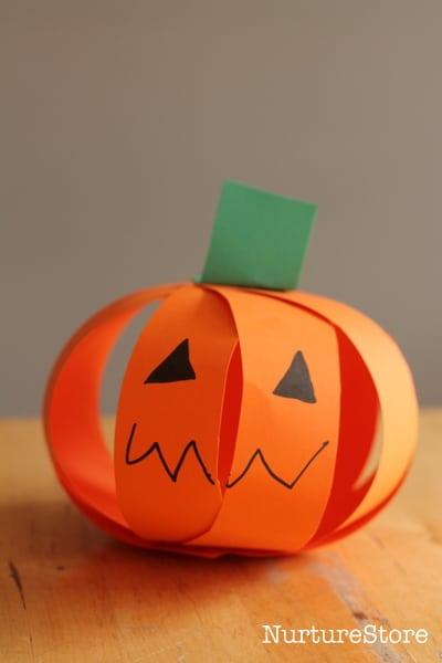 Halloween Crafts Paper Pumpkins