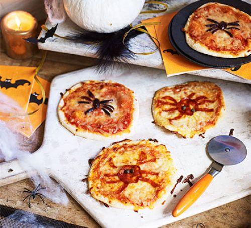 Halloween Spider Pizzas