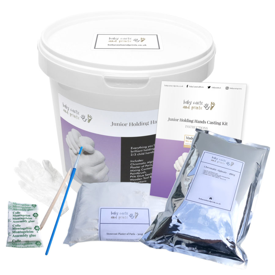 Junior Holding Hands casting kit - opened tub contents