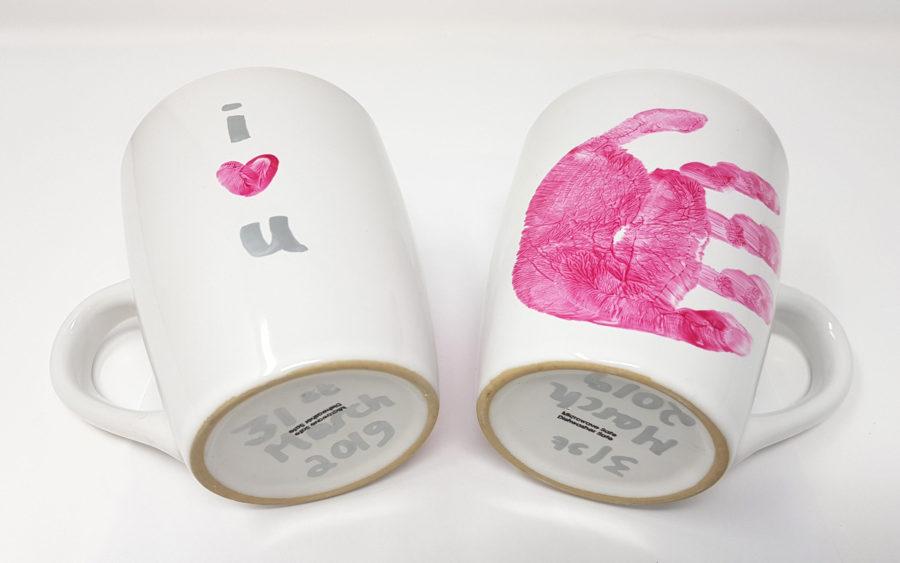 Baby handprint mug