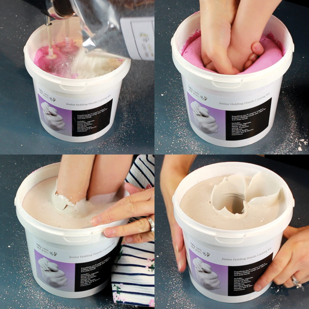 making the mold for a hand casting