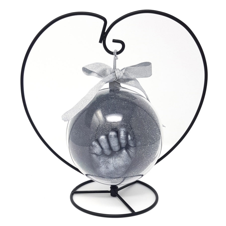Bauble Hand Casting Kit with Heart Stand