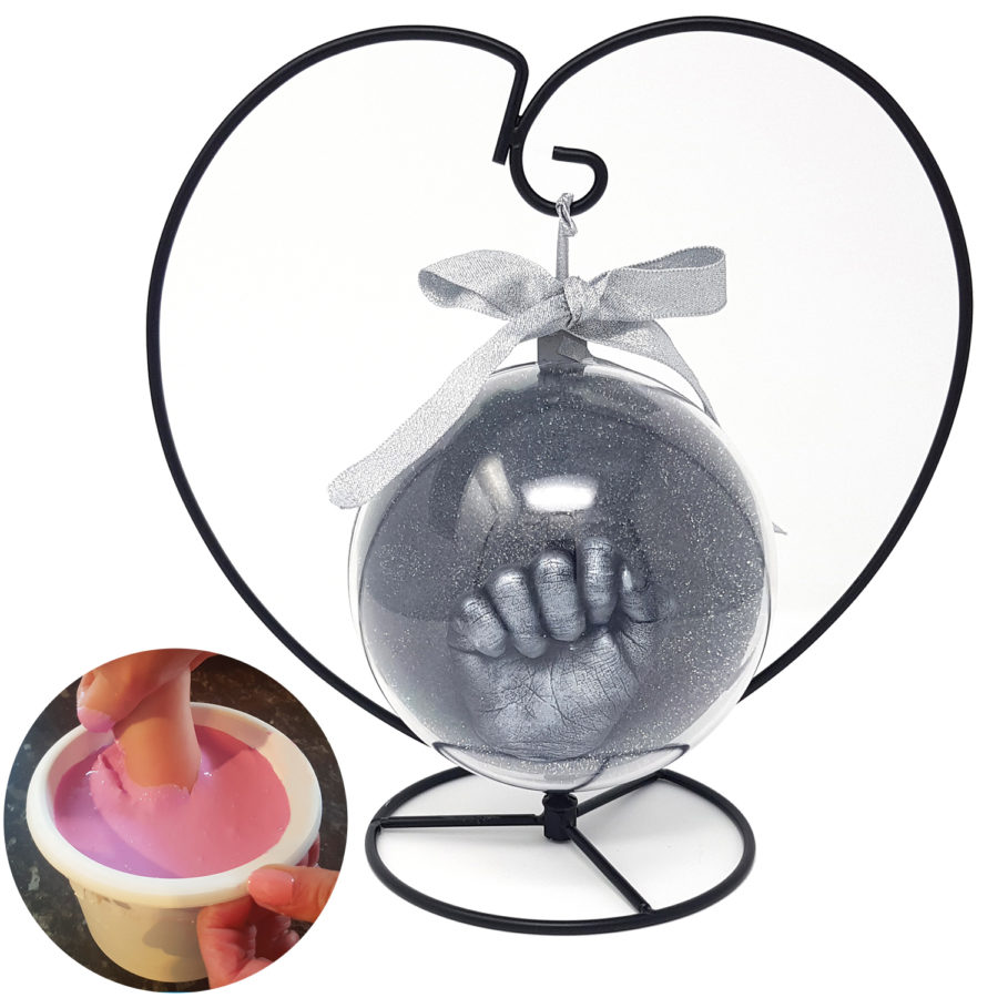 Bauble Hand Casting Kit with Heart Stand (inset image)