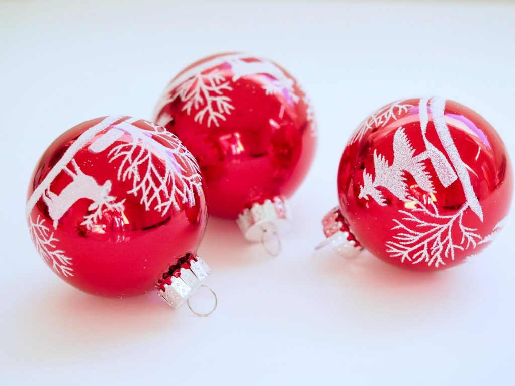 first christmas baby bauble