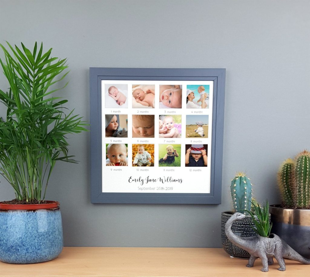 my baby first year photo frame