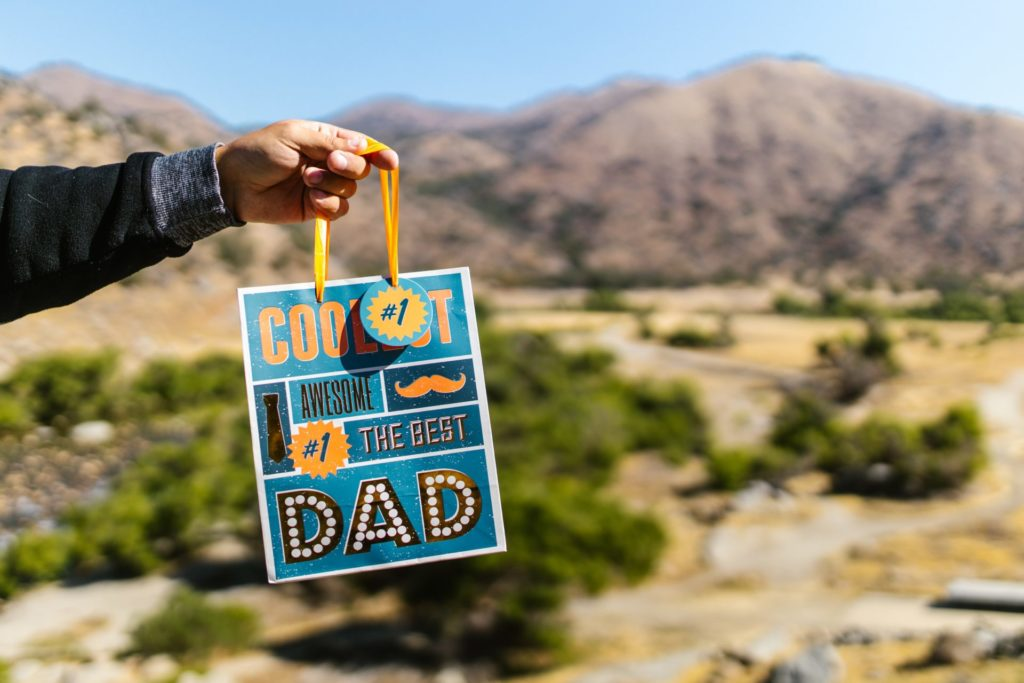 Person holding fathers day bag