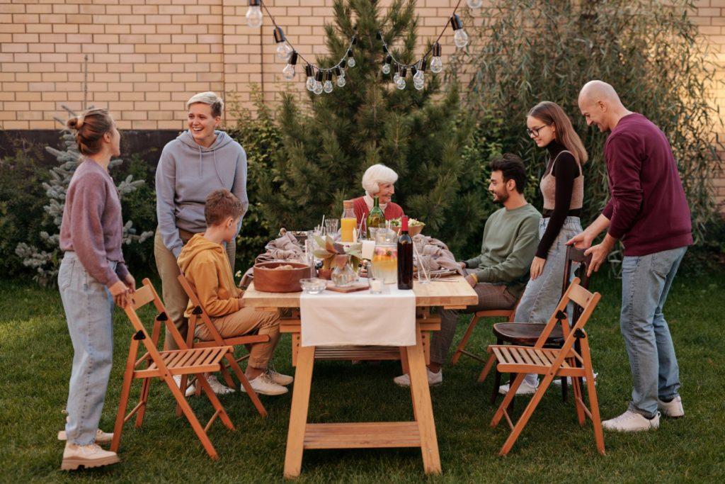 family meal outside